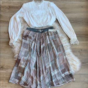 NWT Roxane Nichols silk midi skirt